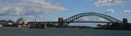 sydney harbour bridge and opera house in australia