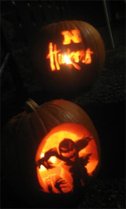 Husker halloween pumpkin carving