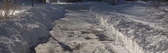 shoveling my driveway