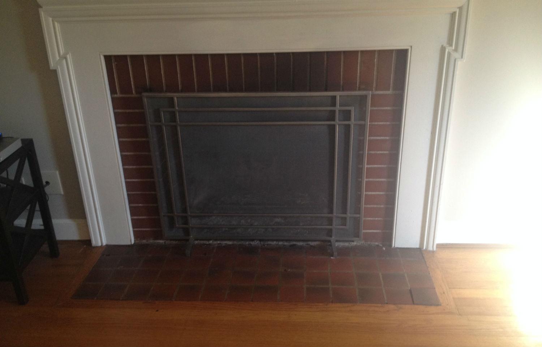 old original fireplace tile