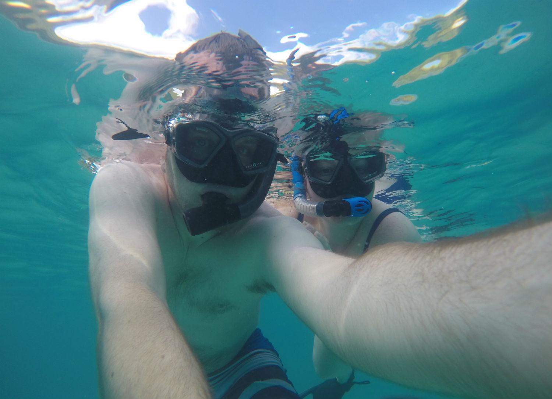 Snorkeling off of Maho Bay